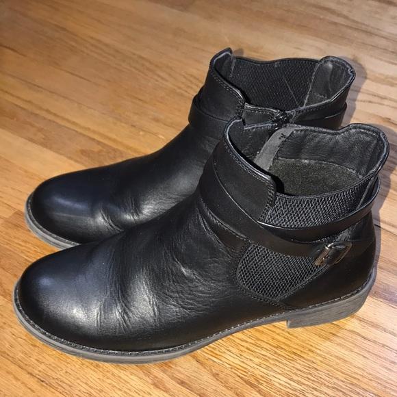 Propet Tatum Black Ankle Boots Leather